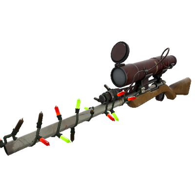 Strange Festivized Killstreak Coffin Nail Sniper Rifle (Field-Tested)