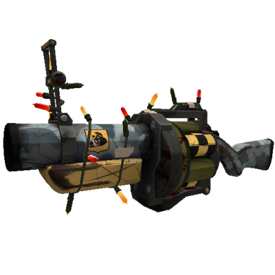 Strange Festivized Specialized Killstreak Butcher Bird Grenade Launcher (Battle Scarred)