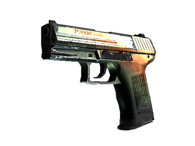 Souvenir P2000 | Amber Fade (Well-Worn)