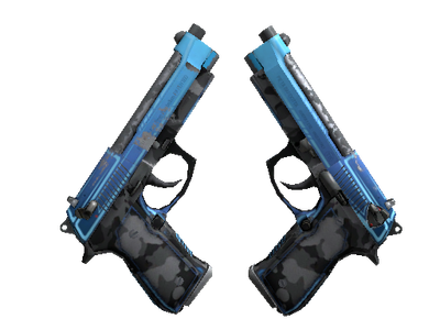 StatTrak™ Dual Berettas | Urban Shock (Well-Worn)