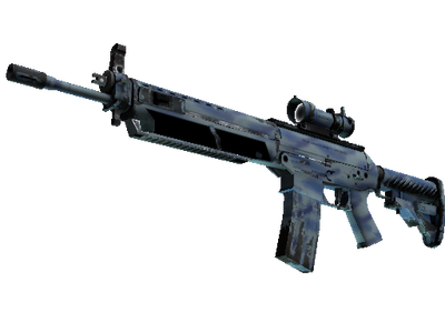 StatTrak™ SG 553 | Wave Spray (Well-Worn)